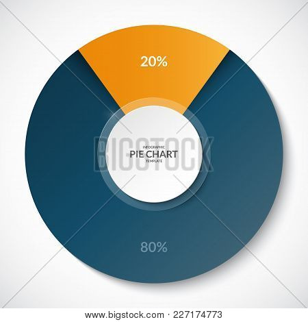 Pie Chart. Share Of 20 And 80 Percent. Can Be Used For Business Infographics.