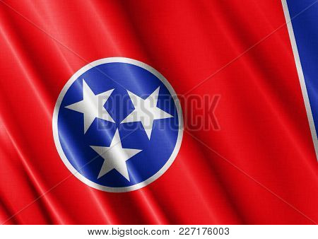 Us State Tennessee Textured Proud Country Waving Flag Close