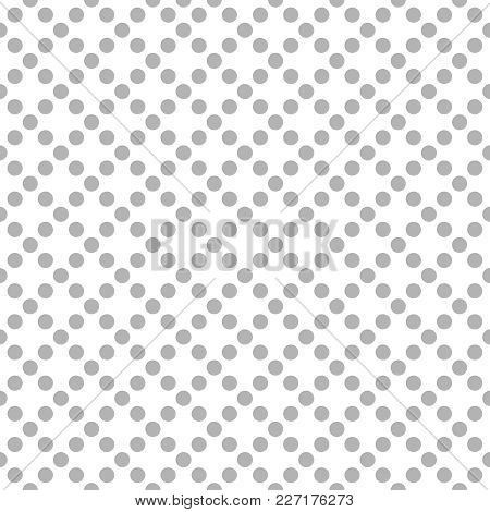 Tile Vector Pattern With Grey Polka Dots On White Background