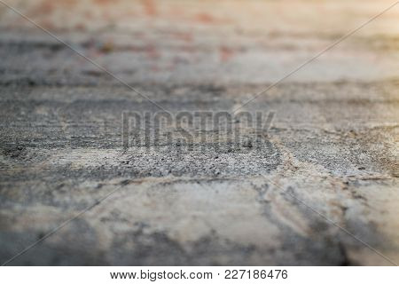 Perspective Of An Old Concrete Wall