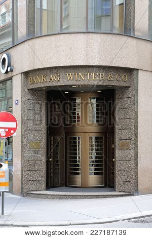 Vienna, Austria - July 12, 2015: Bank Ag Winter And Co Building In Vienna, Austria.