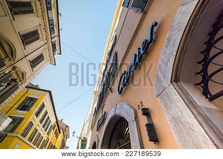 Rome, Italy - October 13, 2017: Cartier Store In Via Dei Condotti
