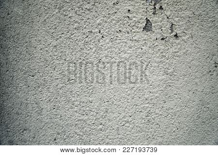 Old Grungy Cement Texture, Grey Concrete Wall Background For Web Site Or Mobile Devices.