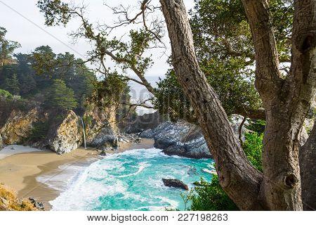 Mc Way Waterfalls In Big Sur State Park, California