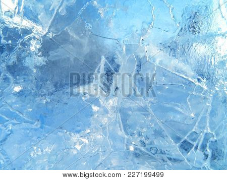 Colorful Ice. Abstract Ice Texture. Nature Background. Arctic Ice.