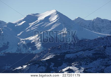 Beautiful Amazing Nature Of High Mountains. Snowy And Alpine Landscape. Winter In The Mountains. Bea