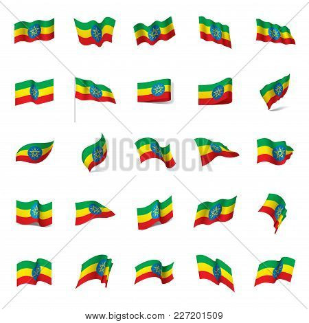 Ethiopia Flag, Vector Illustration On A White Background