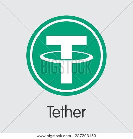 Crypto Currency Tether. Net Banking And Usdt Mining Vector Concept. Digital Currency Mining Finance