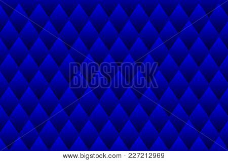 Square Vector Pattern, Rhombus Background - Blue
