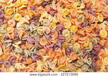 Multicolored Pasta Background