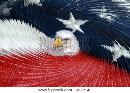 American Flag Abstract And Eagle