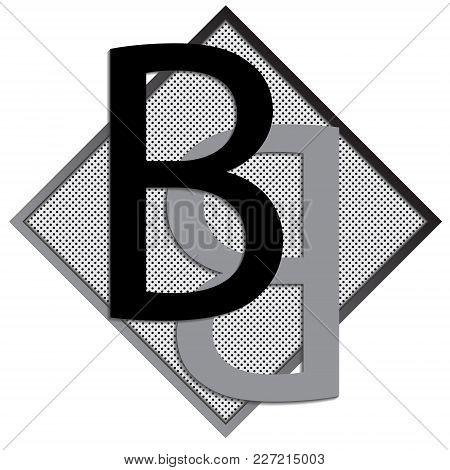 B Letter Logo Concept. Creative Emblem Design Template. Universal Elegant Icon. Premium Business Fin