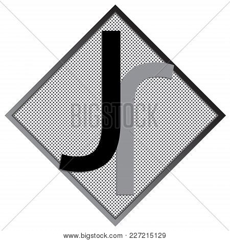 J Letter Logo Concept. Creative Emblem Design Template. Universal Elegant Icon. Premium Business Fin