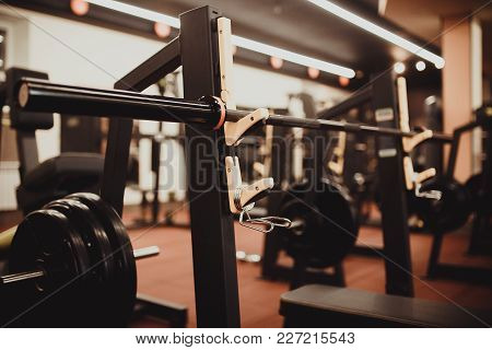 Weight Barbell For Disk. Equipment Tools For Sport Gym