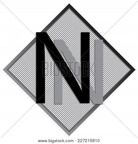 N Letter Logo Concept. Creative Emblem Design Template. Universal Elegant Icon. Premium Business Fin