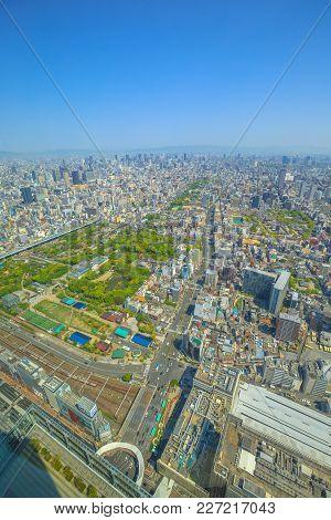 Osaka Skyline Aerial