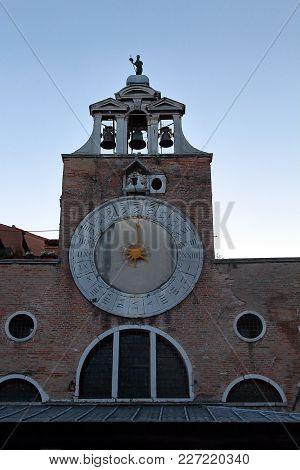 Venice, Italy. The Bell Of San Giacomo Di Rialto Church