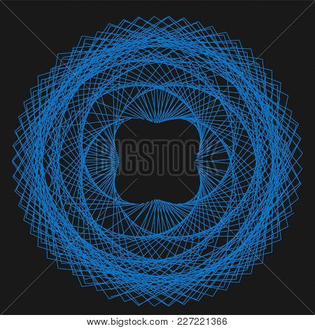 Abstract Spirograph Element For Decorative Design. Vector Abstract Complex Circular Pattern. Vector
