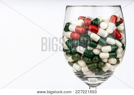 Vitamin Cocktail. Pills In A Glass. Treatment Of Diseases. Pharmaceutical Industry. Healthy Lifestyl