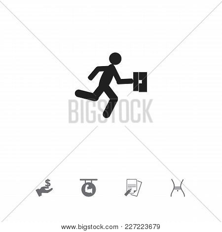 Set Of 5 Editable Mixed Icons. Includes Symbols Such As File, Dollar, Businessman And More. Can Be U