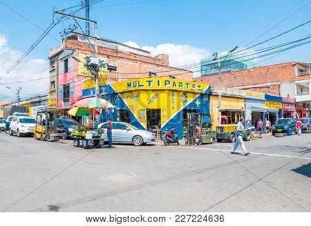 Medellin February 2018 This District In Medellin, Is Called Sad But Is Actually Full Of Life. A Deta
