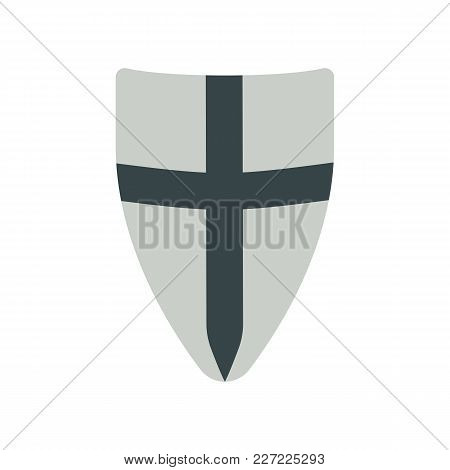 Shield Medieval Weapons Vector Flat Isolated Illustration