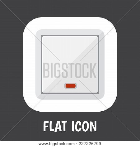 Illustration Of Instruments Symbol On Light Icon Flat. Premium Quality Isolated Switch  Element In T