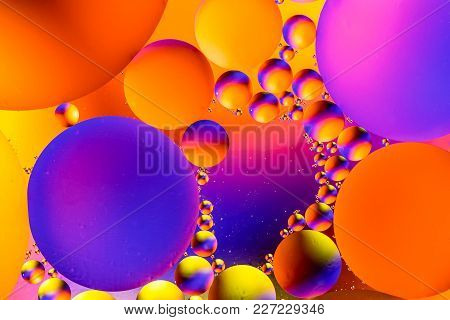 Scientific Image Of Cell Membrane. Macro Up Of Liquid Substances. Abstract Molecule Atom Sctructure.