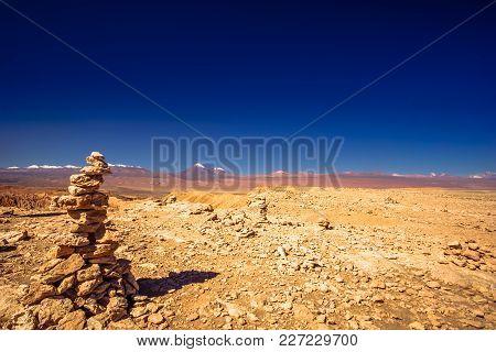 View On Rock Formation In Moon Valley By San Pedro De Atacama