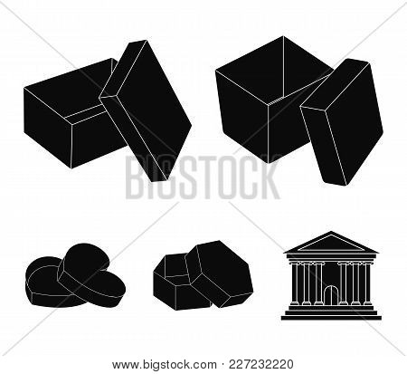 Case, Shell, Framework, And Other  Icon In Black Style.box, Container, Package, Icons In Set Collect