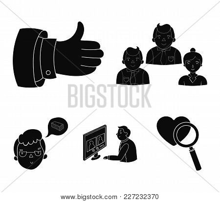 Videoconference, Business Thoughts, A Badge Of Okay.bizneskonferentsiya And Negotiations Set Collect