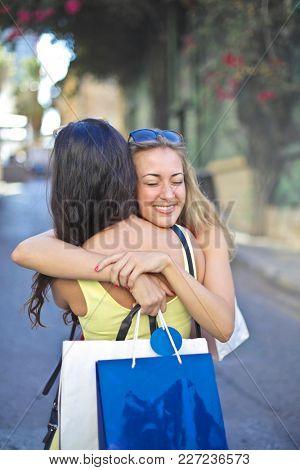 Hugging your best friend
