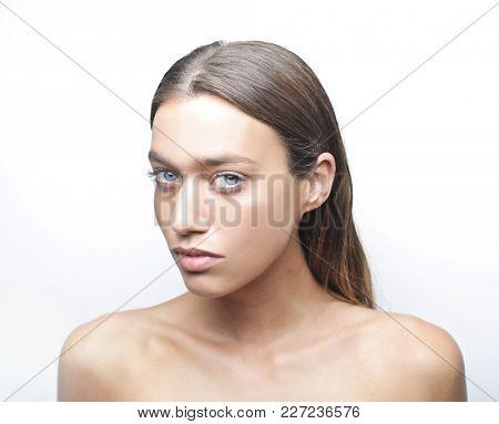 Portrait of charming girl