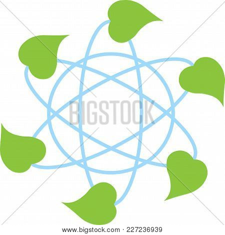 Environmentally Friendly Development Of Science And Technology Earth Minimal Logotype