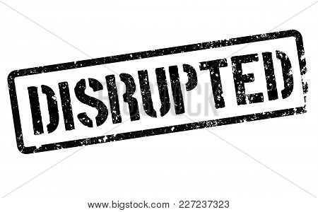 Disrupted Stamp. Typographic Label, Stamp Or Logo