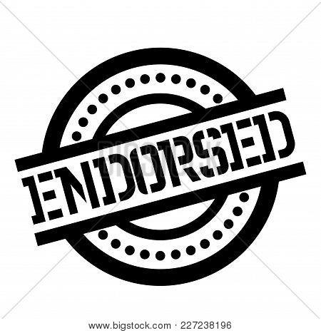 Endorsed Stamp. Typographic Label, Stamp Or Logo