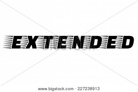 Extended Stamp. Typographic Label, Stamp Or Logo