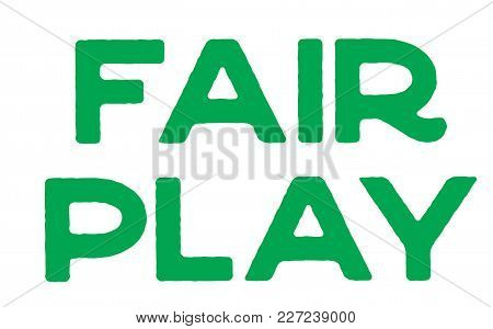 Fair Play Stamp. Typographic Label, Stamp Or Logo