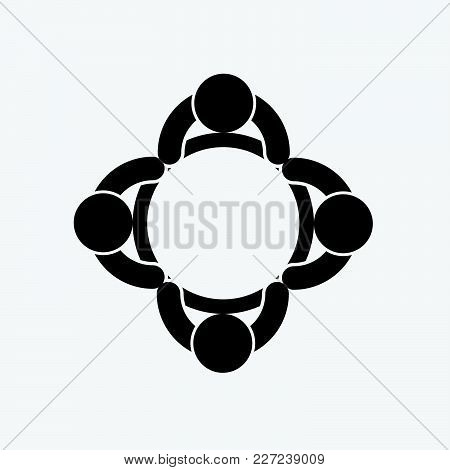Business Meeting Icon,people Are Meeting In The Room.vector Illustration