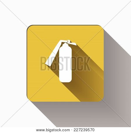 Security Icon.fire Extinguisher Icon On Yellow Background.vector Illustration