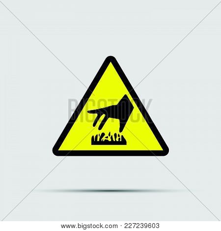 Warning Symbol.beware Hot Surface Icon On White Background.vector Illustration