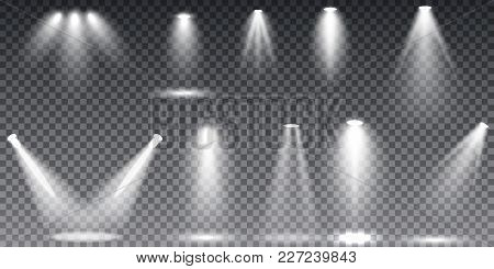 Collection Glow Light Lens Flare Effect And Star Burst With Sparkles. Scene Illumination, Sunlight T