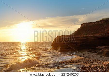 Ocean Coast At The Sunrise (thunder Cove, Prince Edward Island, Canada)