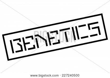 Genetics Stamp. Typographic Sign, Stamp Or Logo