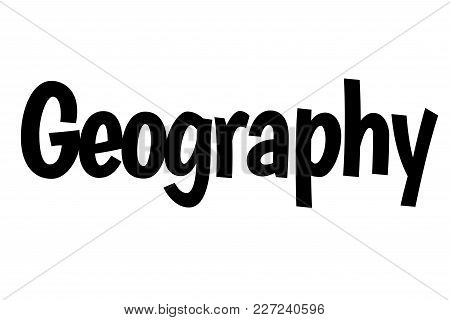 Geography Stamp. Typographic Sign, Stamp Or Logo