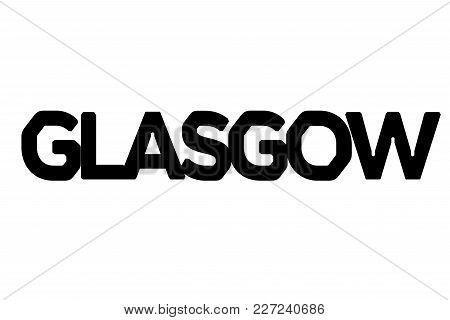 Glasgow Stamp. Typographic Sign, Stamp Or Logo