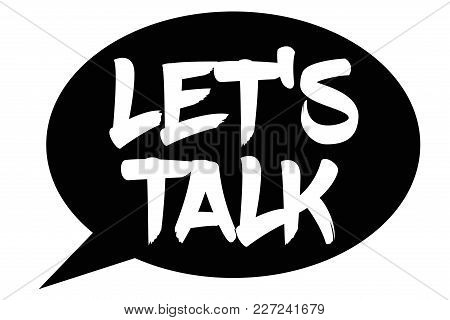 Let's Talk. Typographic Stamp