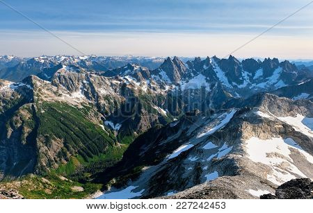 The Southern Pickets Viewed From Luna Leak. North Cascades National Park, Washington