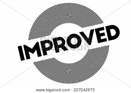 Improved Typographic Stamp. Typographic Sign, Badge Or Logo