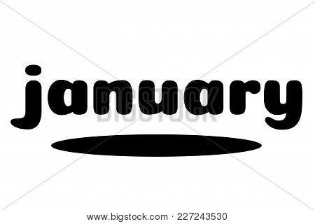 January Typographic Stamp. Typographic Sign, Badge Or Logo